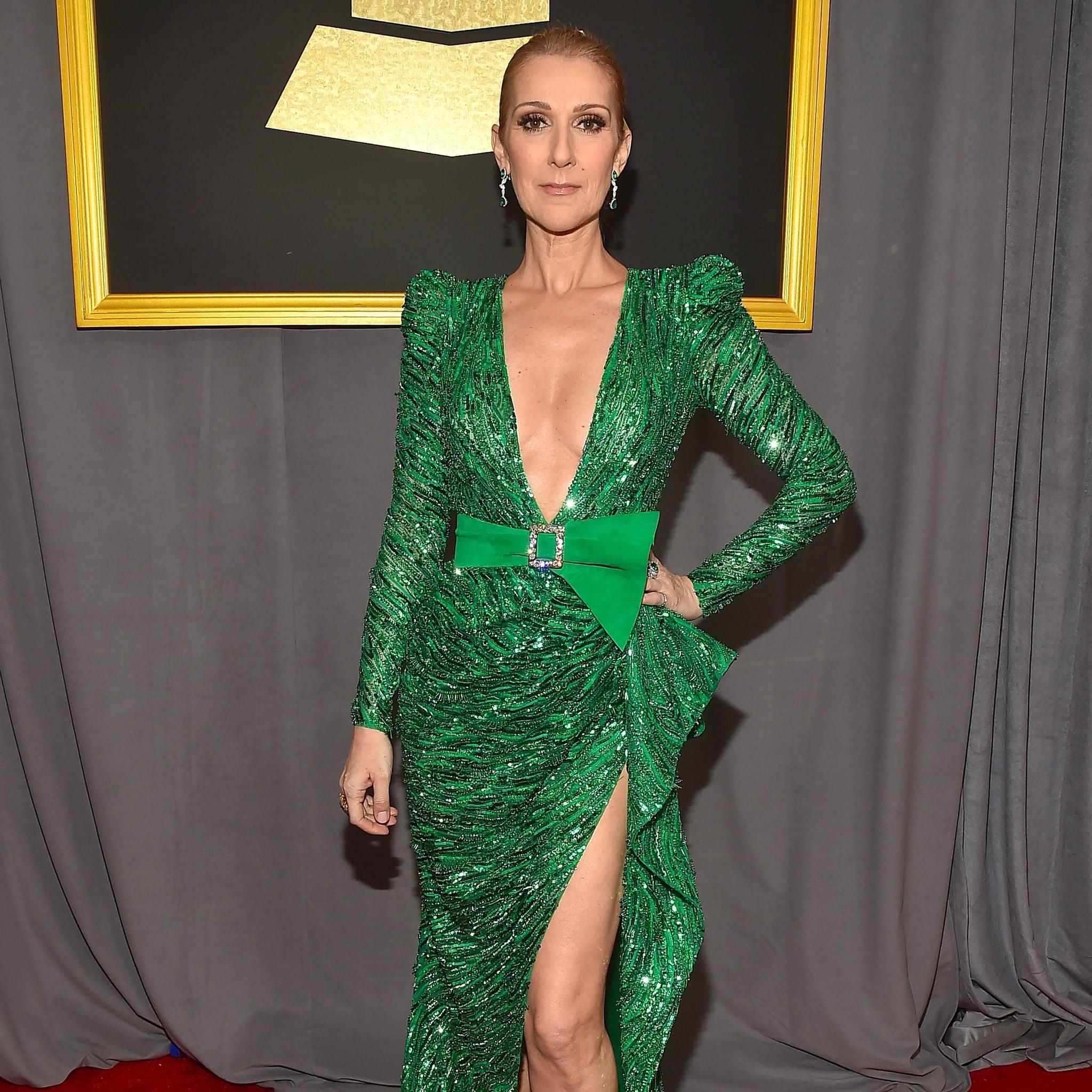 Celine Dion\'s Zuhair Murad Dress at the 2017 Grammys | POPSUGAR Fashion