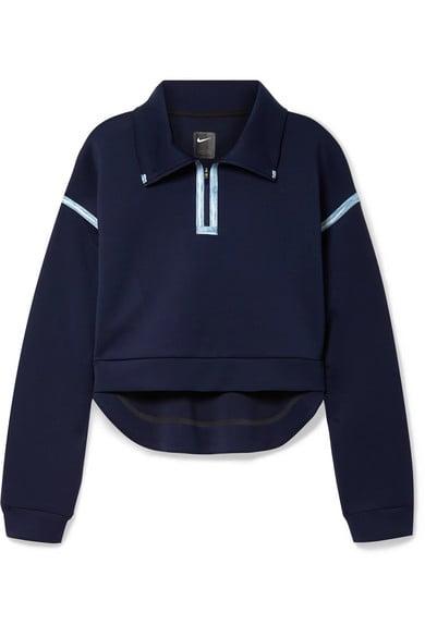 Nike City Ready Cropped Grosgrain-Trimmed Stretch Sweatshirt