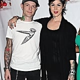 Tattoo artist Kat Von D dated Deadmau5 — real name Joel Zimmerman — for a year before splitting in June 2013.