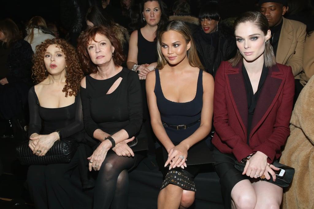 Bernadette Peters, Susan Sarandon, Chrissy Teigen, and Coco Rocha at NYFW