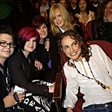 Jack, Kelly, and Sharon Osbourne; Natalie Portman; and Nicole Kidman