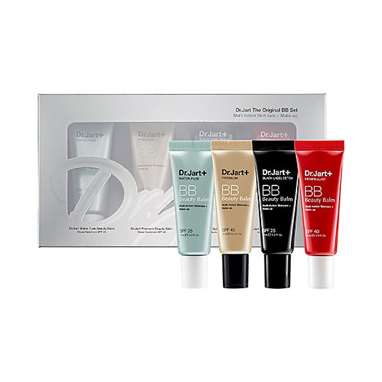 The products: Dr. Jart+ The Original BB Cream Set ($34) Why we're packing it: The POPSUGAR Beauty team are all big fans of Dr. Jart+ BB creams, and this sampler of half-ounce tubes is made for travel. Use the Detox for mornings spent running for a croissant and a café au lait, and amp up with Water Fuse for nights out. The SPF 45 in the Premium Beauty Balm will keep you covered for a day of exposure in the Tuileries.