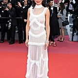 For an appearance during the Cannes Film Festival, Cheryl wore a stunning sheer white gown.