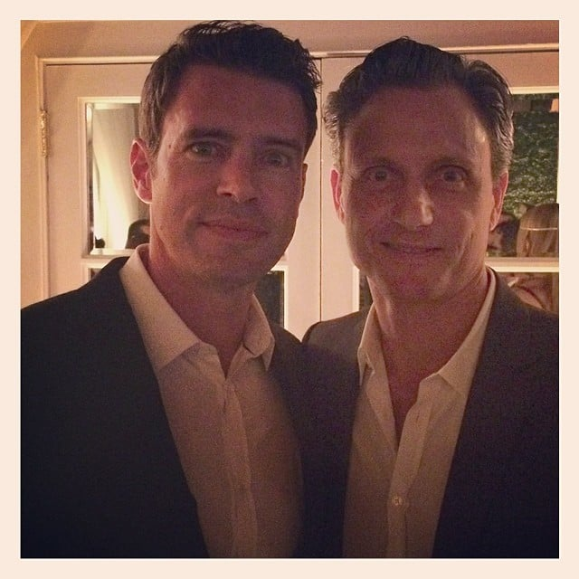 Scott Foley and Tony Goldwyn were BFFs during Friday night's festivities.