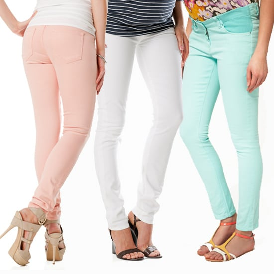 Pastel Maternity Jeans For Spring