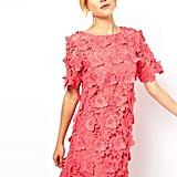 ASOS Pink Shift Dress with 3D Flowers ($128, originally $226)