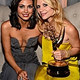 Homeland costars Morena Baccarin and Claire Danes enjoyed a postshow party.