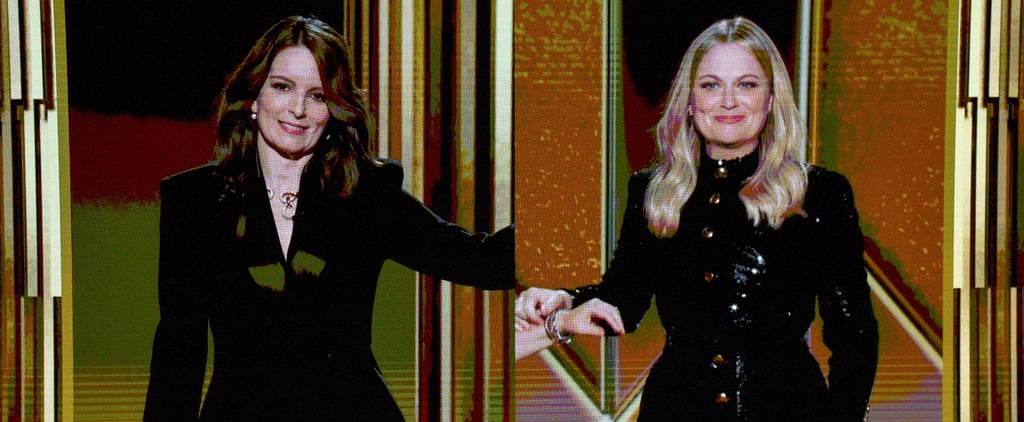 Golden Globes: What's on Amy Poehler's Hand?