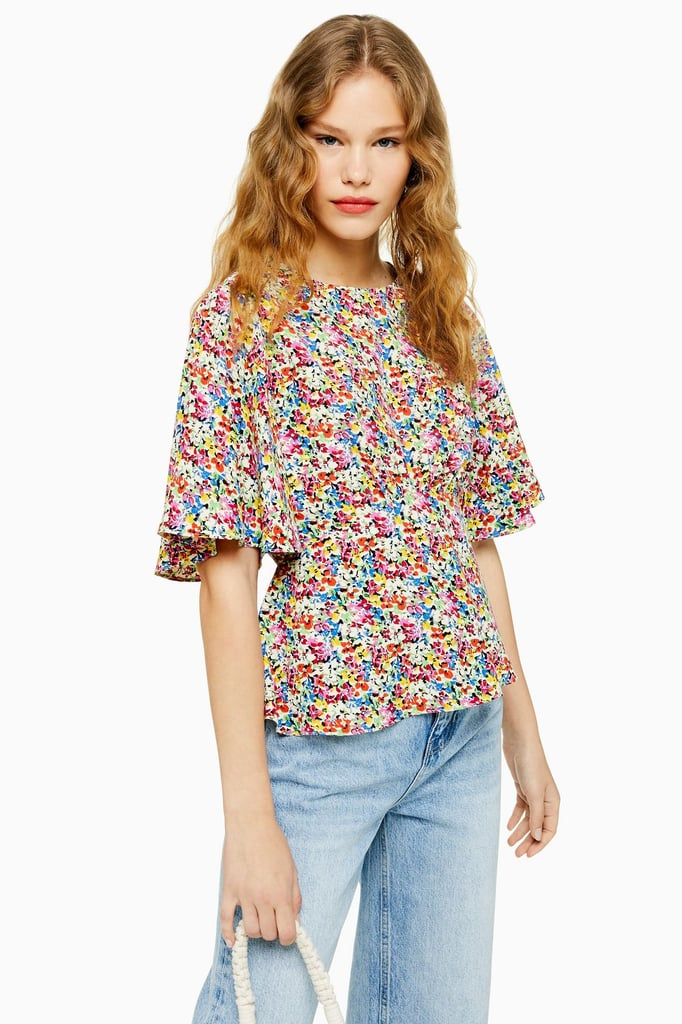 44f83f4e992 Topshop Austin Floral Print Angel Sleeve Blouse | Best Travel Tops ...