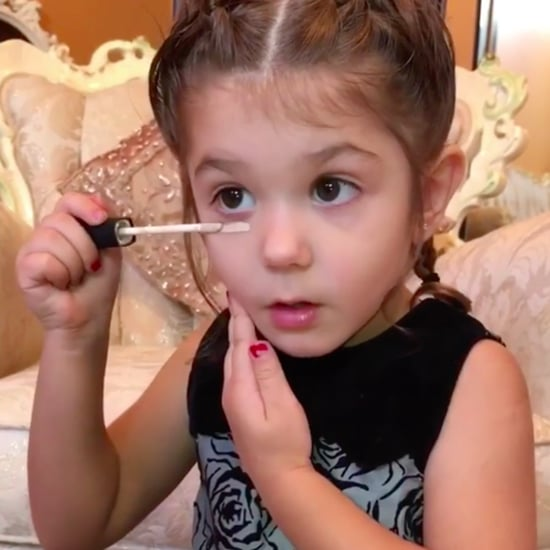 3-Year-Old Applying Her Own Makeup