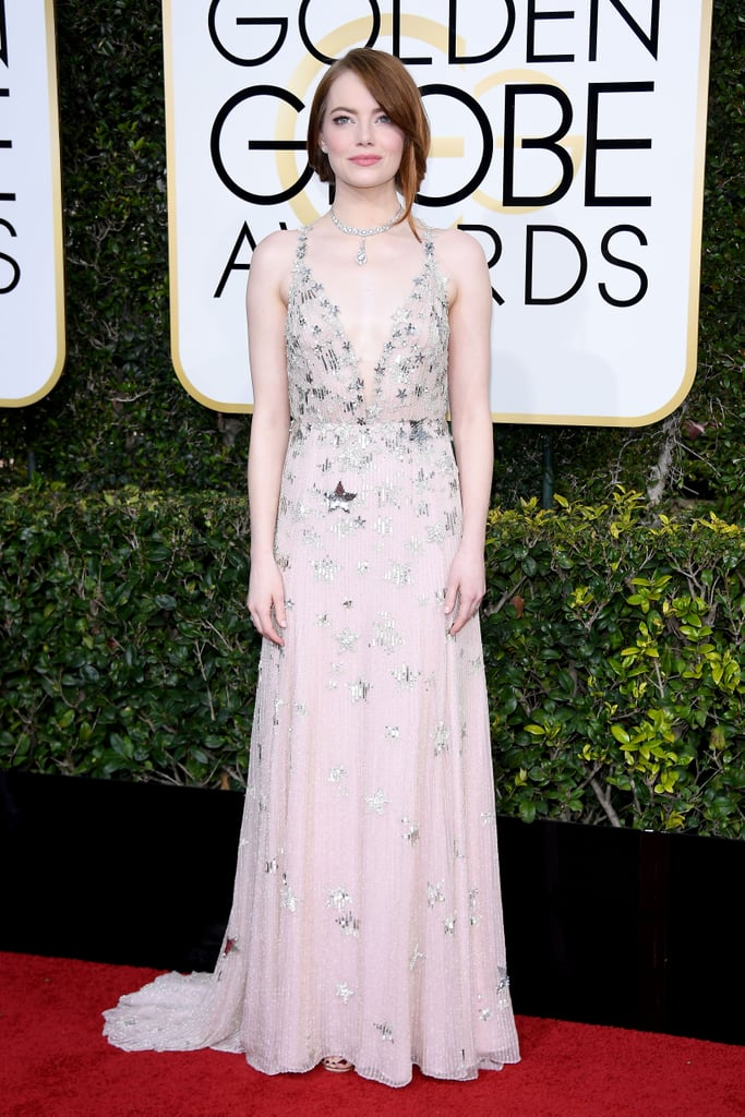 Emma Stone's Valentino Dress at Golden Globe Awards 2017 ... Emma Stone Golden Globes