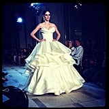 Glamour snapped a picture of Coco Rocha coming down the runway for Zac Posen. Source: Instagram user glamourmag