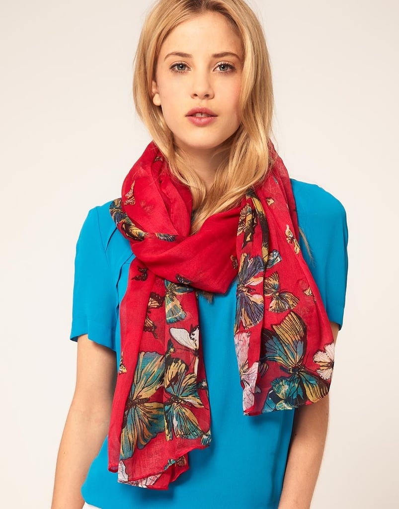 The butterfly print exudes a supremely Spring feel. Warehouse Butterfly Print Scarf ($36)