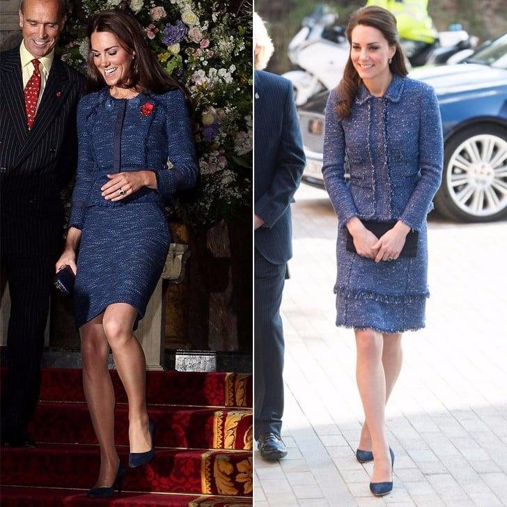 The Duchess of Cambridge's Blue Rebecca Taylor Suit