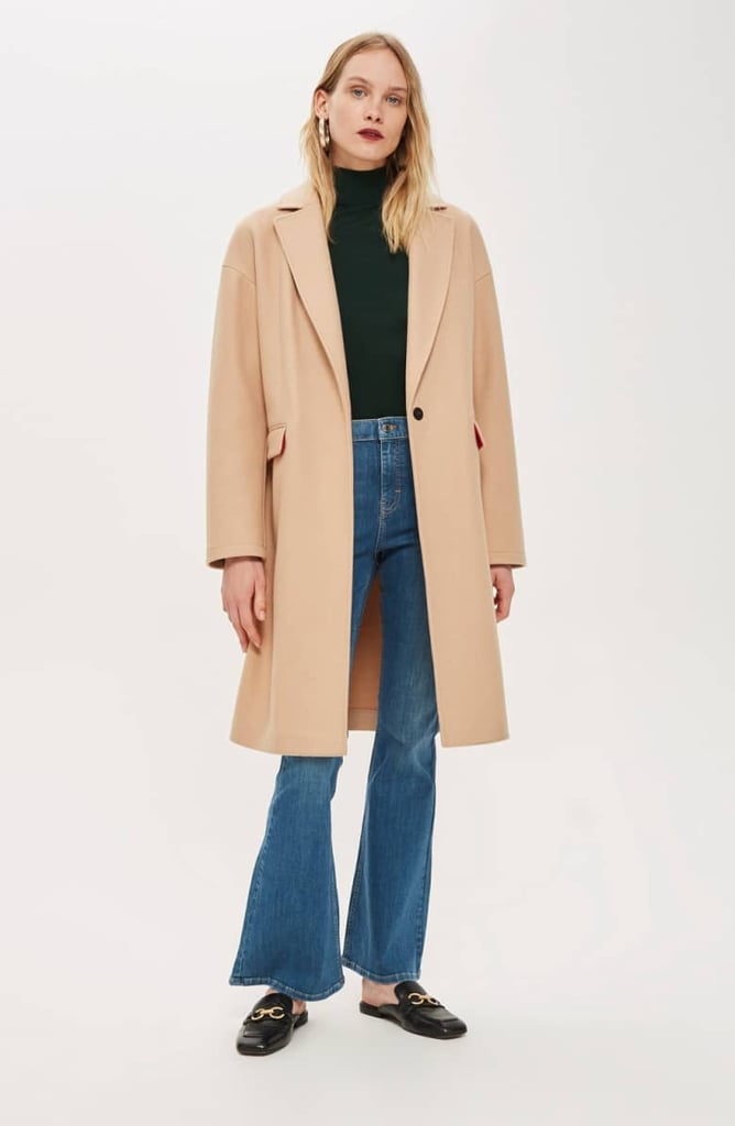 Topshop Lily Knit Back Midi Coat Last Minute Gift Ideas For Women