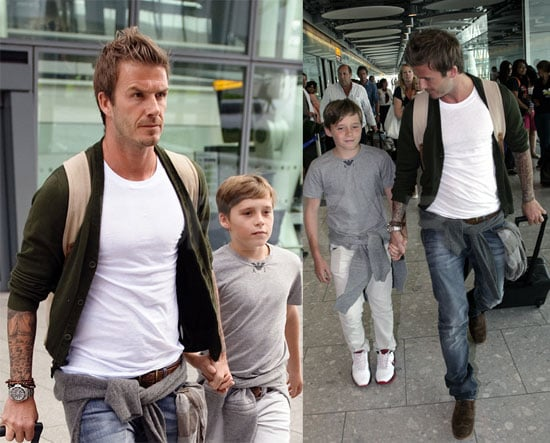 David Beckham and Brooklyn Beckham at Wimbledon