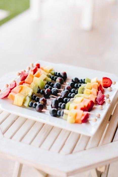 Rainbow Fruit Kebab