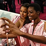 Pictured: Lais Ribeiro and Maria Borges
