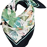 Texas and the Artichoke Iguazú Silk Scarf Navy Blue