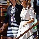 Kate Middleton White Dress at Wimbledon 2019
