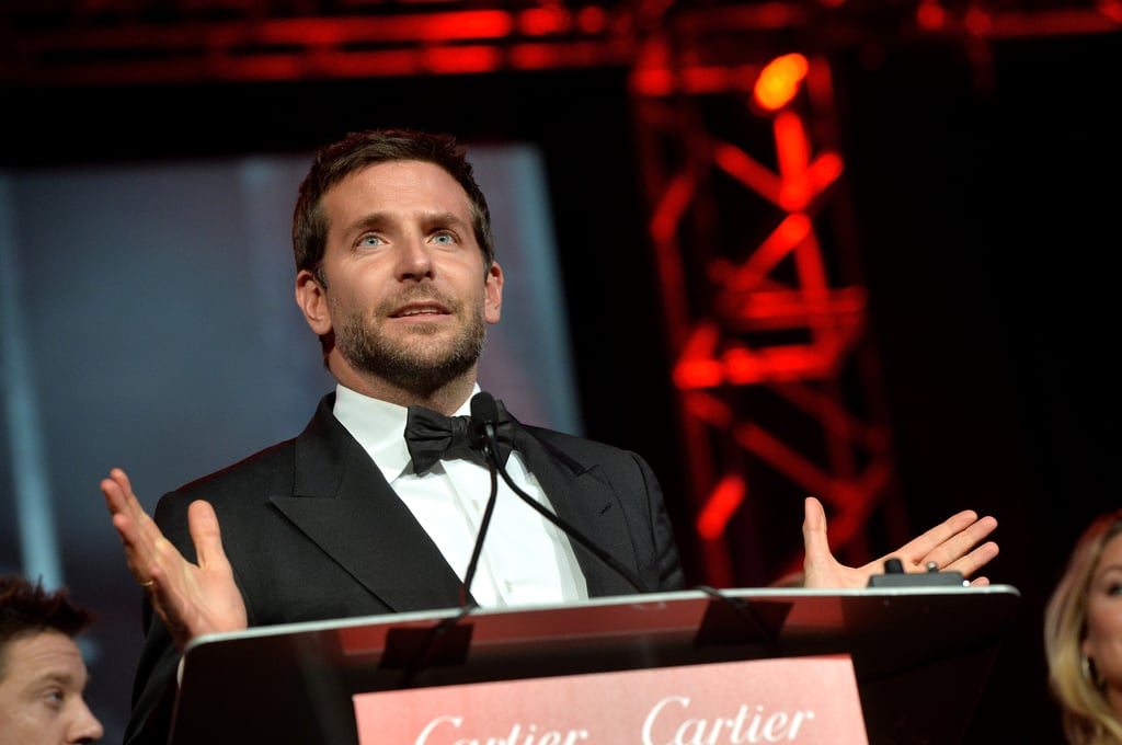 Bradley Cooper praised his American Hustle co-stars as he took the podium.