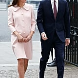 Kate gave Prince William a loving look as they arrived for a March service at Westminster Abbey in London.