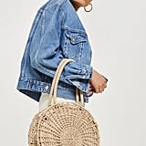 Topshop Bella Straw Tote Bag