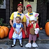 Neil Patrick Harris and his husband David Burtka, dressed as characters from Alice and Wonderland with their twins, Harper and Gideon. Source: Instagram user instagranph