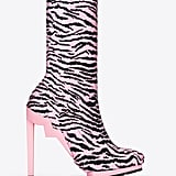 Tiger-Striped Ankle Boots ($299)