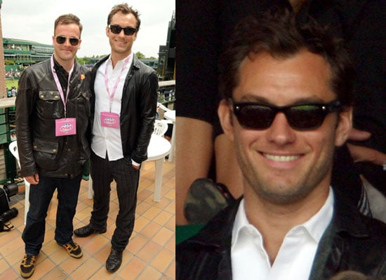 Photos of Jonny Lee Miller and Jude Law at Wimbledon 2009 Day One