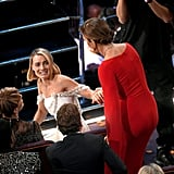 Margot Robbie and Allison Janney held hands.