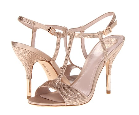 These Vince Camuto Kheringtn heels ($139) may look like regular T-strap sandals from afar, but upon closer inspection you'll notice the dazzling rhinestones.