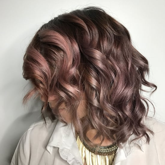 Chocolate Mauve Hair Colour Trend