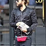 Jared Leto rocked a fanny pack on Wednesday in NYC.
