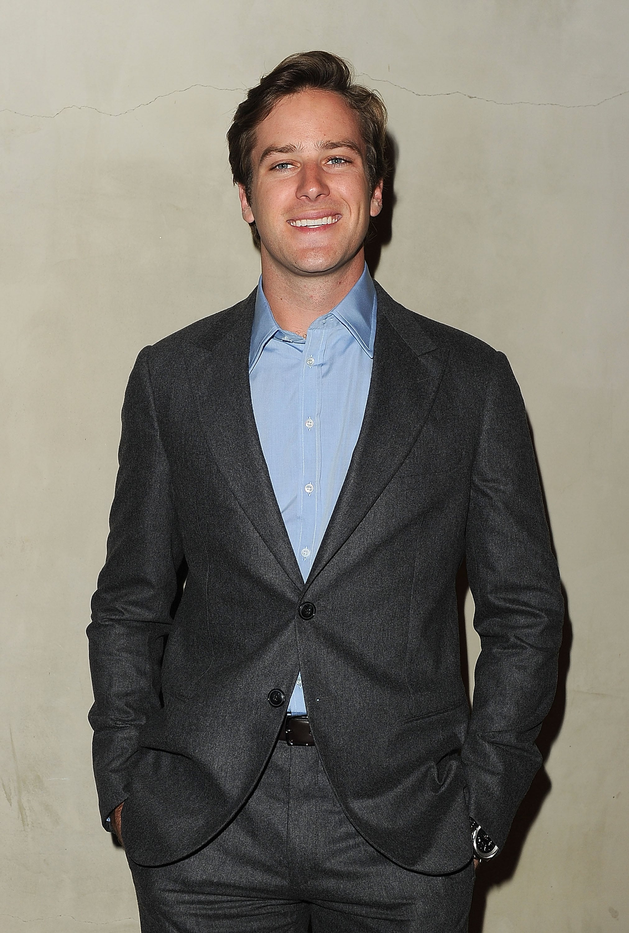 Armie Hammer rubbed shoulders with Hollywood's A-list at a private dinner.