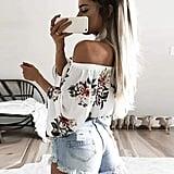 Hibluco Fashion Off Shoulder Top