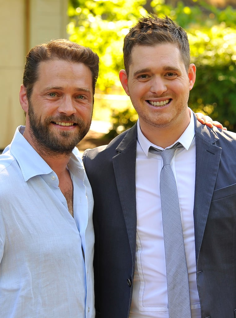 Michael Bublé and Jason Priestley in Napa.