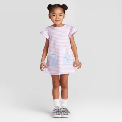 Toddler Girls' Bunny Pocket Dress