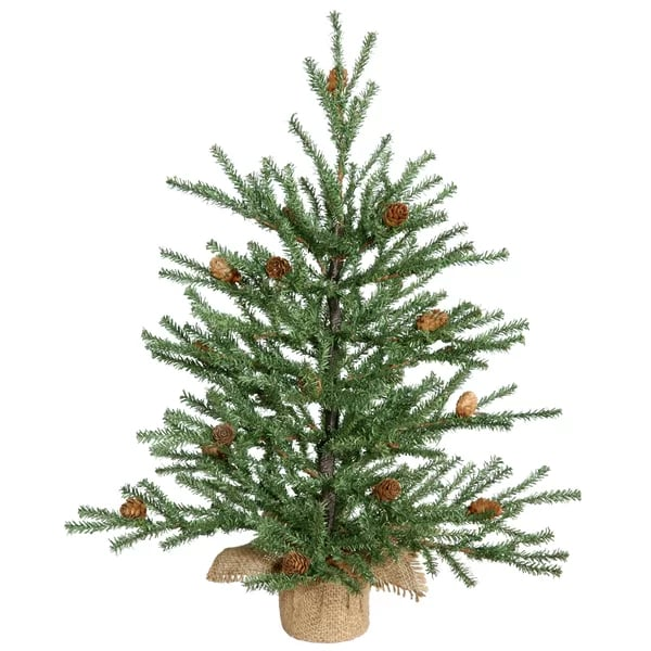 Green Pine Artificial Christmas Tree | Small Christmas ...