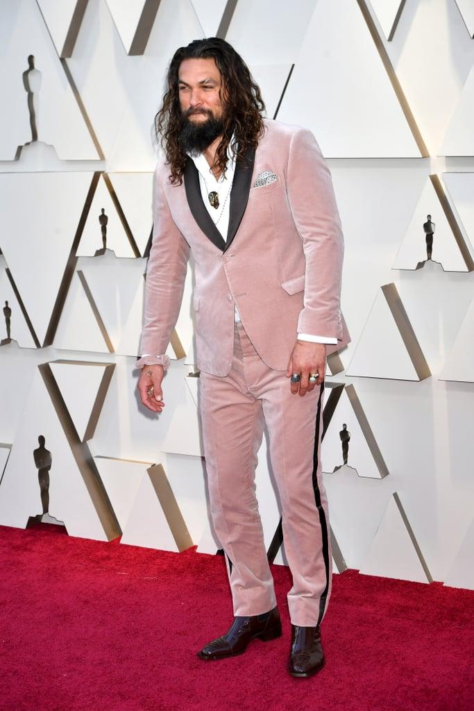 Jason Momoa Hair Accessory Oscars 2019