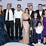 The cast of Modern Family at the Golden Globes.