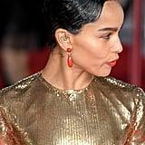 Zoë Kravitz's Gold Saint Laurent Dress at the 2020 BAFTAs