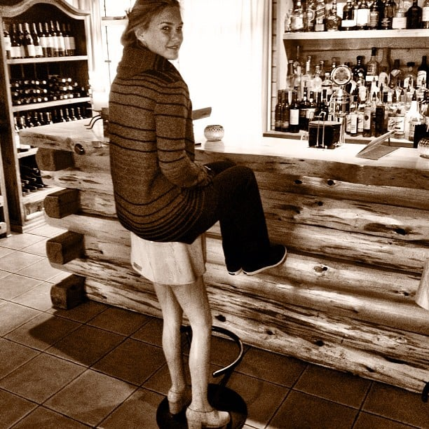 Bar Refaeli stopped at a bar in June and snapped a photo on an unusual stool.