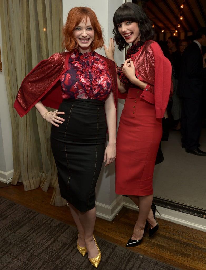 Jessica Pare and Christina Hendricks in L'Wren Scott