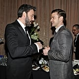 Ben Affleck stopped to chat with Justin Timberlake.