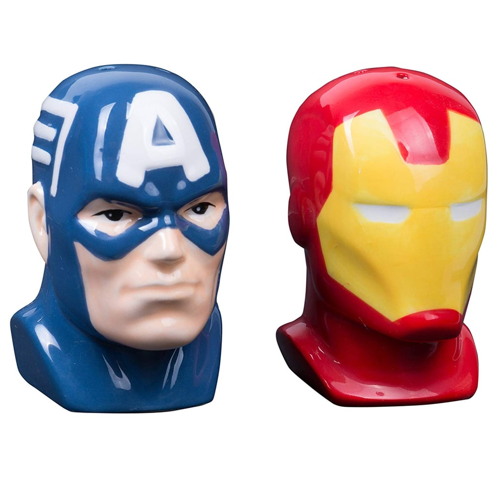 d68d114d6ae Marvel Avengers Captain America and Iron Man Ceramic Salt and Pepper Shakers