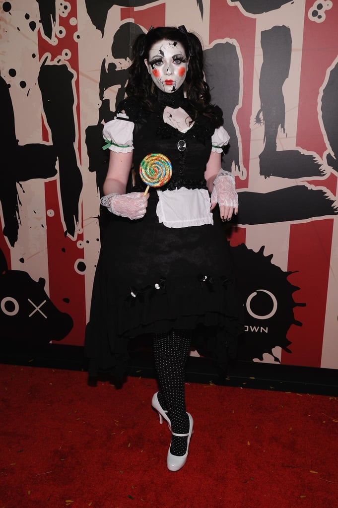 Michelle Trachtenberg was a broken doll in NYC in 2014.