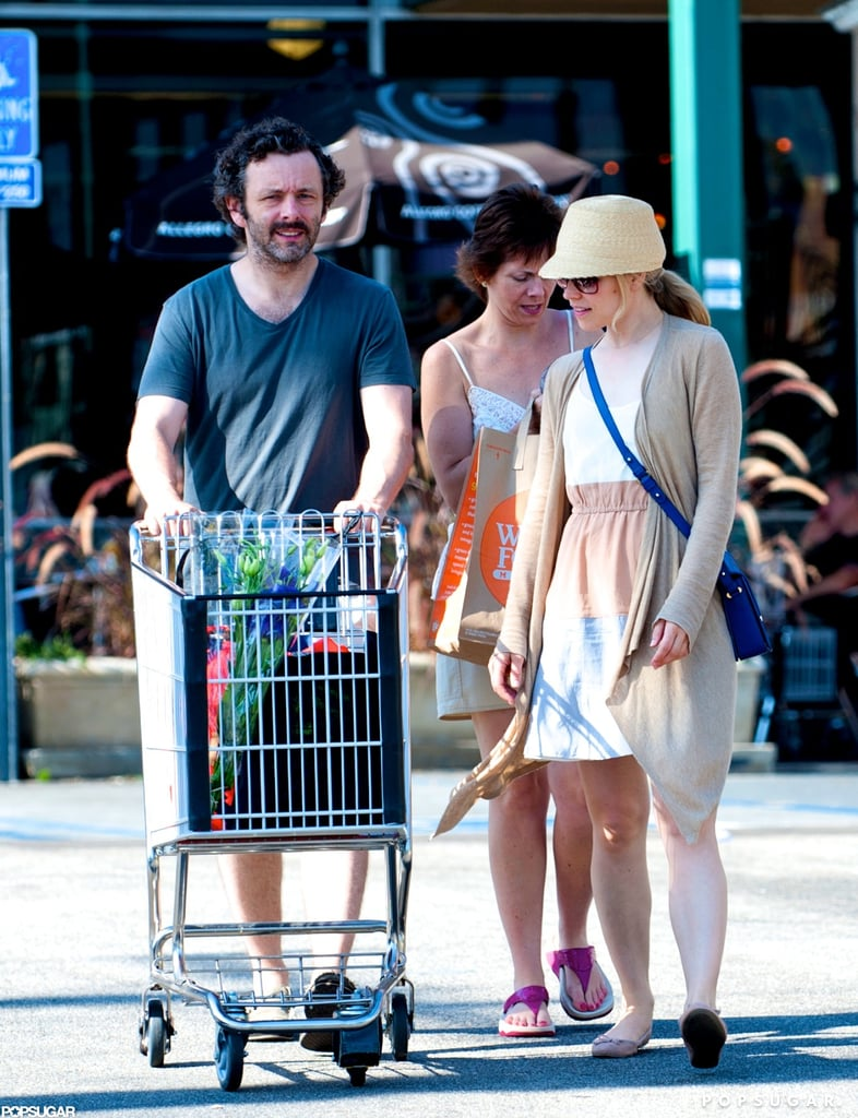 Rachel McAdams and Michael Sheen kept a low profile during a visit to a Whole Foods in LA yesterday. The couple picked up flowers and kitchen supplies before heading off to their next destination. Rachel and Michael are currently back on the West Coast following a stay in England, where she filmed her latest romantic comedy, About Time. Rachel's international travel will likely continue next month with a stop in Italy to support her Terrence Malick drama, To the Wonder, at the Venice Film Festival. Michael has a busy Fall workload as well. In addition to promoting the final installment in the Twilight franchise, Breaking Dawn Part 2, he's also been tapped to costar with Lizzy Caplan in Showtime's new series, Masters of Sex.
