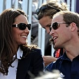 The Duchess donned Givenchy sunglasses.