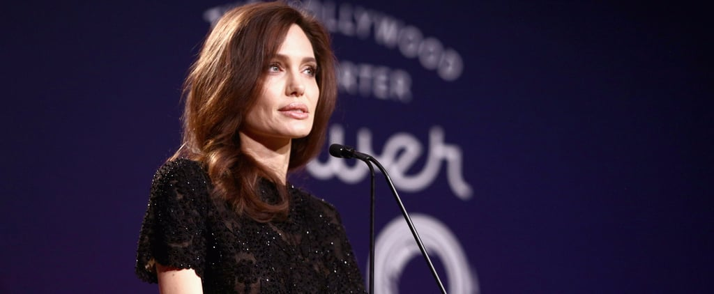 Angelina Jolie's Black Beaded Look